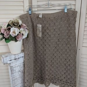 New JJill Crocheted Skirt